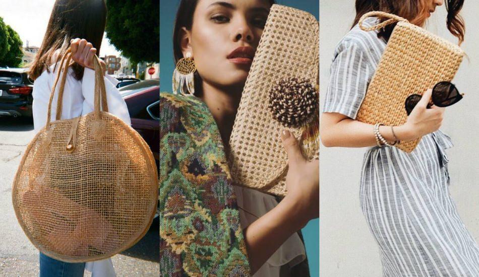 2019 hasır çanta modellerinde neler var?