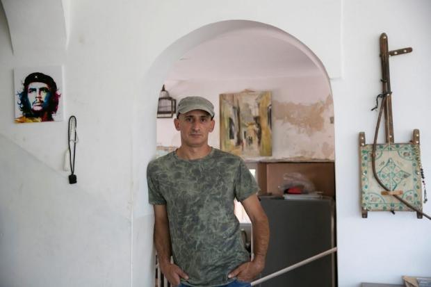 Cevad Siyam Doğu Kudüs Silvan'daki evinde, Ekim 2017. Fotoğraf: Olivier Fitoussi