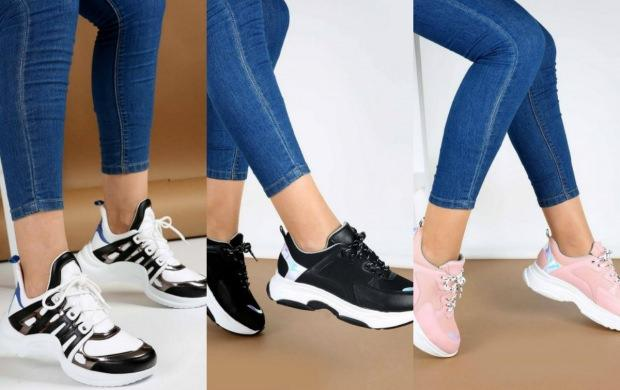 kalın bilekli kadınlar nasıl spor ayakkabı giymeli