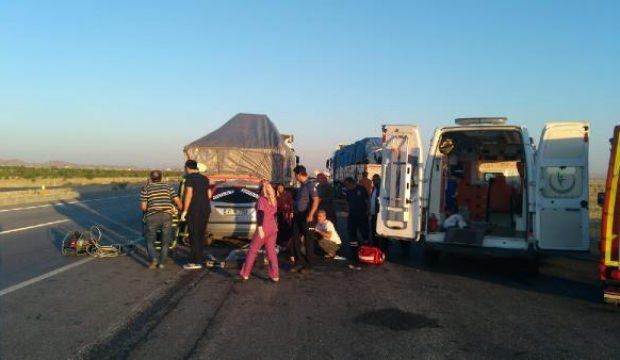 Konya'da feci kaza: 6 yaralı