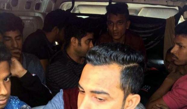 Tekirdağ'da 14 kaçak göçmen yakalandı