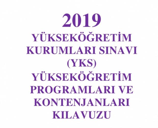 ÖSYM 2019 tercih kılavuzu