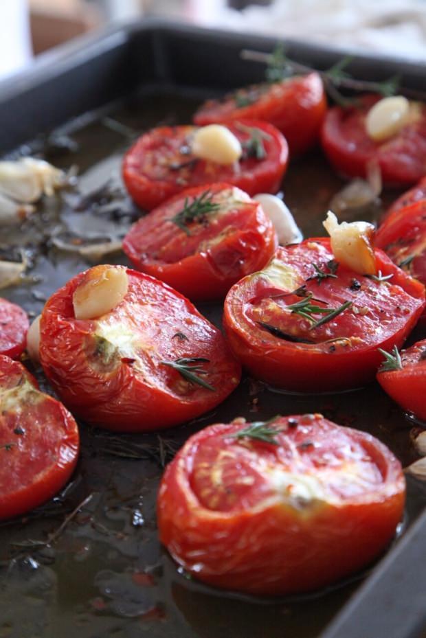 közlenmiş domates