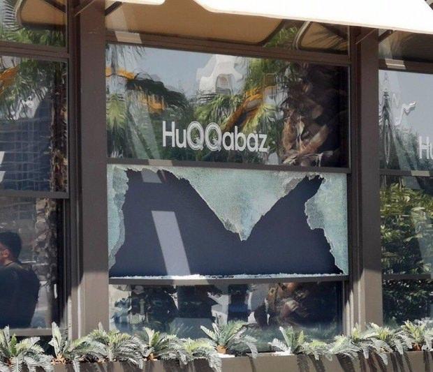 Saldırının gerçekleştiği Türk restoran.