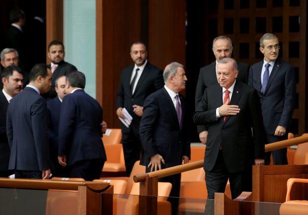 Cumhurbaşkanı Erdoğan, Meclis'teki oturuma katıldı.