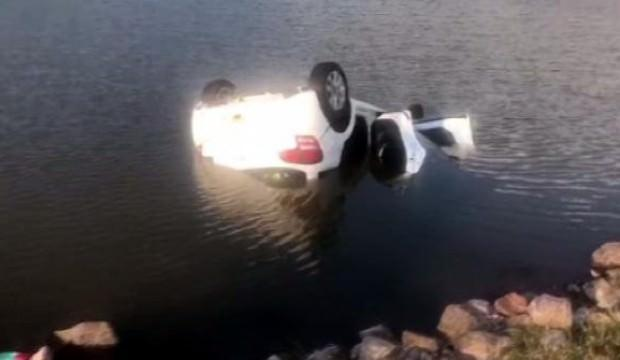 Ankara'da otomobil gölete düştü: 1 ölü, 5 yaralı