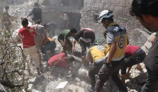 İdlib'e hava saldırıları: 9 ölü