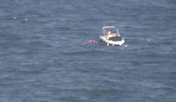 Marmara Denizi'nde alabora olan teknedeki 4 kişi kurtarıldı