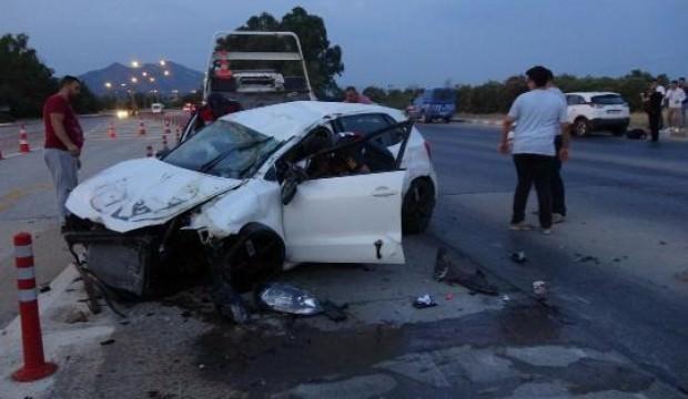 Sürücülerin 'gişe' inadı kazaya neden oldu: 2 yaralı