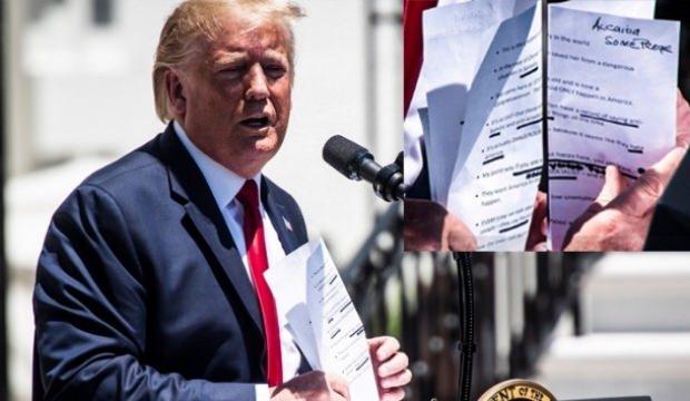 Trump'ın elinde dikkat çeken 'El Kaide' notu!