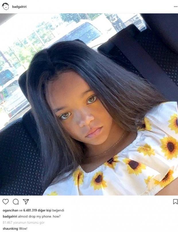 Rihannaya benzeyen kız çocuğu