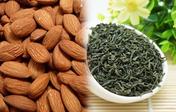 Badem ile yeşil çay