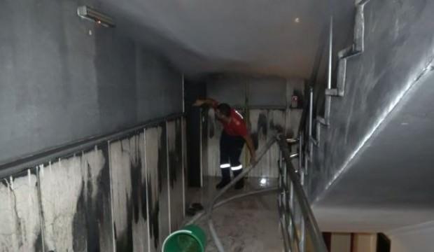 İki kardeşin tek kaldığı kaldığı evde yangın çıktı