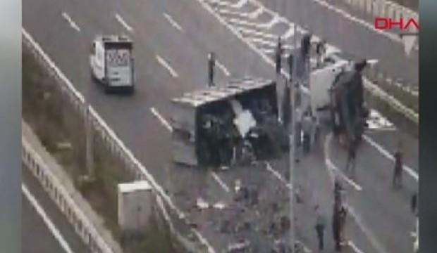 Kuzey Marmara Otoyolu'nda kaza! Ankara istikameti trafiğe kapandı