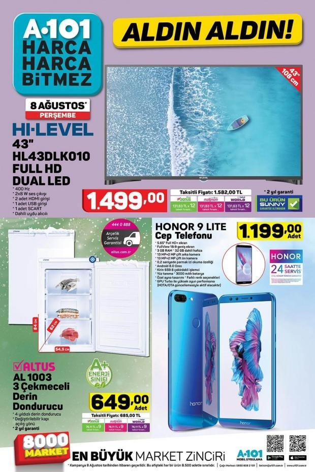 8 Ağustos A101 aktüel ürünler kataloğu