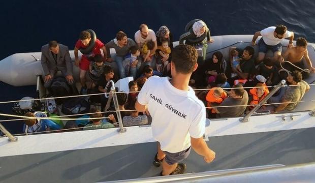 58'i çocuk 128 göçmen yakalandı