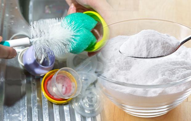 Karbonatla biberon temizliği