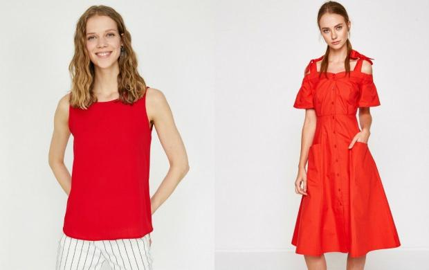 koton kırmızı elbise