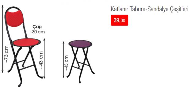 Katlanabilir Tabure - Sandalye Çeşitleri