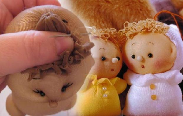 Ten çoraptan bebek yapımı