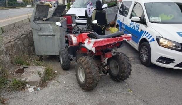 ATV'den düşen yaşlı adam yaralandı