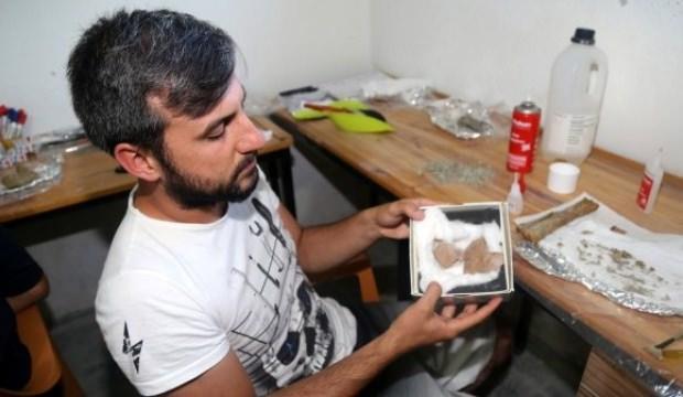 Çankırı'da 8 milyon yıllık deve kuşu yumurtası bulundu