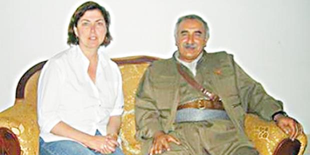 Şirin Payzın'ın PKK elebaşı Murat Karayılan ile yaptığı röportajdan bir kare...