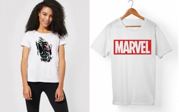 marvel t shirt kadın