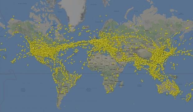 Türkiye semalarından 20 saniyede bir uçak geçti