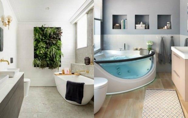 sonbahar banyo dekorasyonu