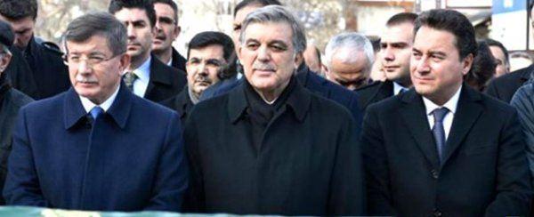 Ahmet Davutoğlu, Abdullah Gül ve Ali Babacan.