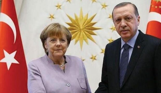 Cumhurbaşkanı Erdoğan Merkel'le görüştü!