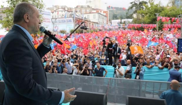 Cumhurbaşkanı Erdoğan, Trabzon'da konuştu