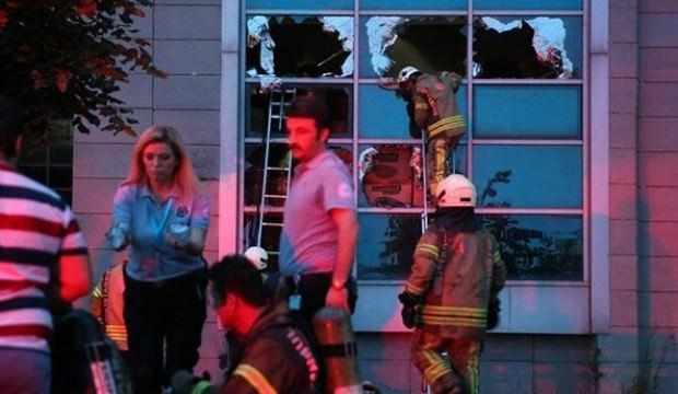 Hastanede korkutan yangın!