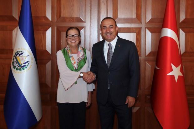 Dışişleri Bakanı Mevlüt Çavuşoğlu, El Salvadorlu mevkidaşı Alexandra Hill...