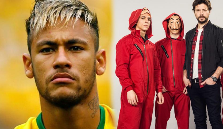 Dünyaca ünlü futbolcu Neymar La Casa De Papel'de