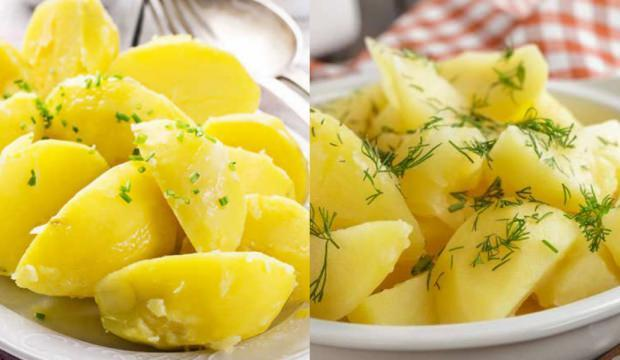 Ödem atıp yağ yakan haşlanmış patates diyeti listesiyle ince ve sıkı beden