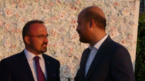 AK Parti Grup Başkanvekili Bülent Turan ve Bilal Erdoğan