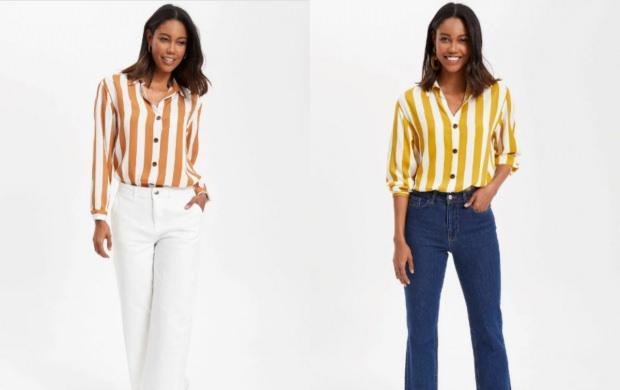 bayan gömlek modelleri uzun kollu