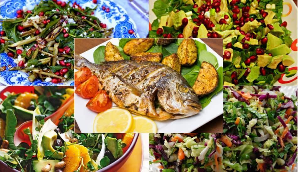 Balığın yanına iyi giden salata tarifleri