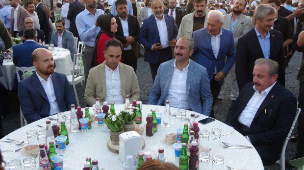 Bilal Erdoğan, Adalet Bakanı Abdülhamit Gül ve TBMM Başkanı Mustafa Şentop
