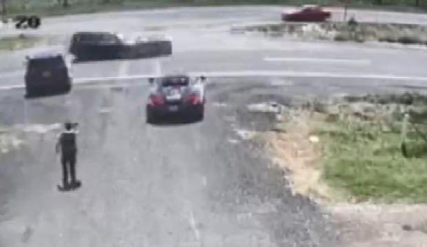 Lamborghini ikiye bölündü! İşte o kaza