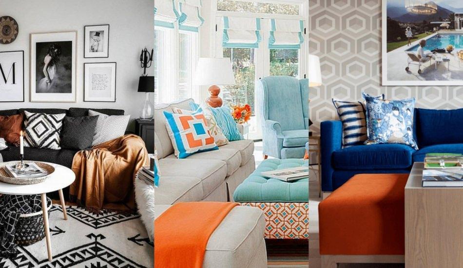 Sonbahar rengi turuncu ile ev dekorasyonu fikirleri