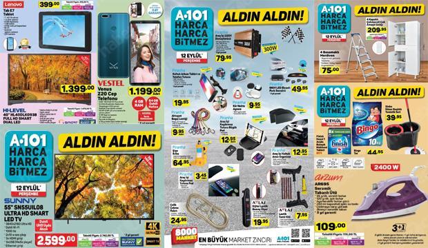 A101 marketlerinde indirim başladı: 13 Eylül aktüel ürünler kataloğu...
