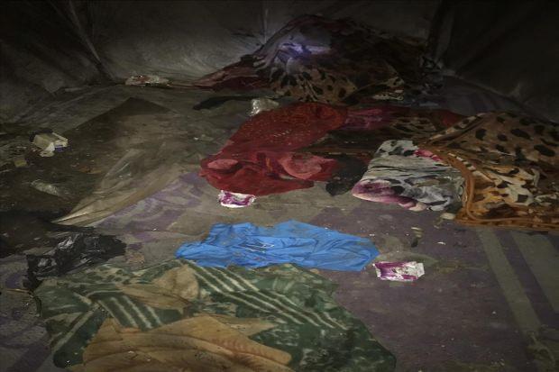 PKK'LI TERÖRİSTLERİN BARINDIĞI MAĞARA