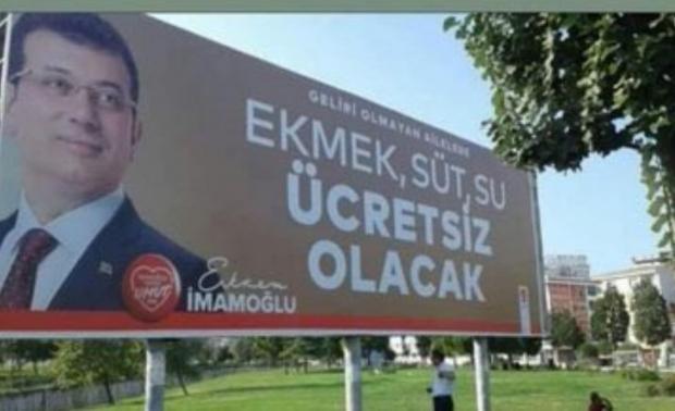 Ekrem İmamoğlu seçimden önce ücretsiz ekmek vaadinde bulunuyordu.