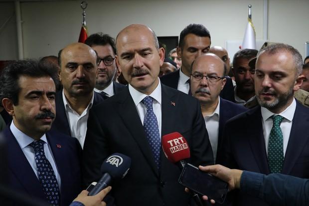 İçişleri Bakanı Soylu, yaralıları ziyareti sonrası basın açıklaması yaptı...