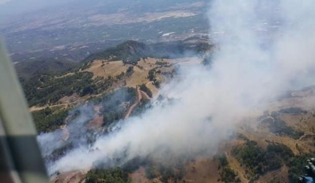 Denizli'de orman yangını: Havadan ve karadan müdahale ediliyor