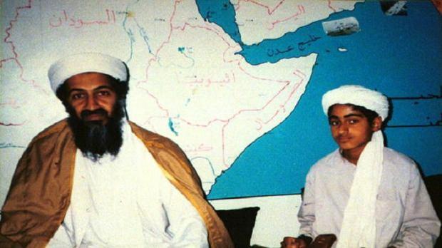 Usame Bin Ladin ve oğlu Hamza Bin Ladin...