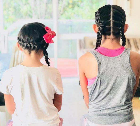 Çocuklar için örgü saç modeli